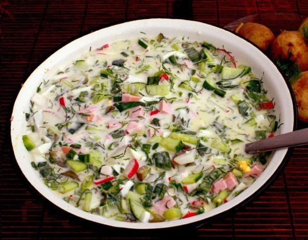 Как приготовить вкусную окрошку на квасе: пошаговый рецепт