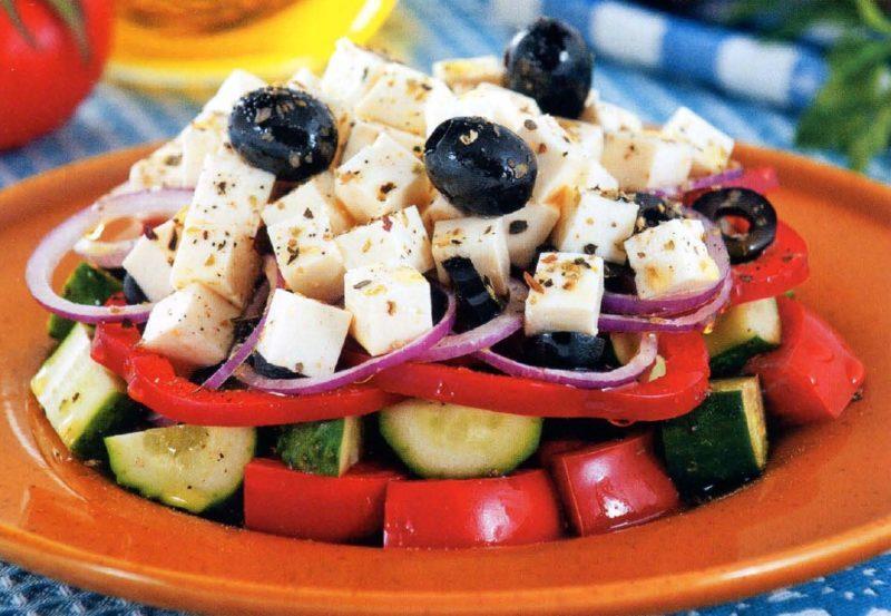 Как приготовить классический «Греческий» салат в домашних условиях: описание рецепта с фото