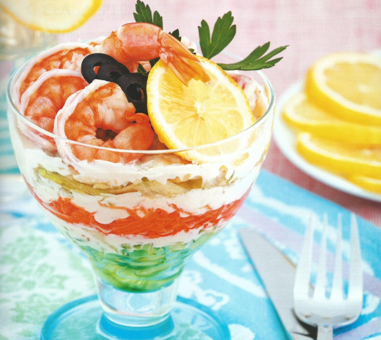 Как приготовить французский салат – коктейль с креветками: рецепт