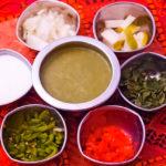 зеленый чатни соус индийской кухни