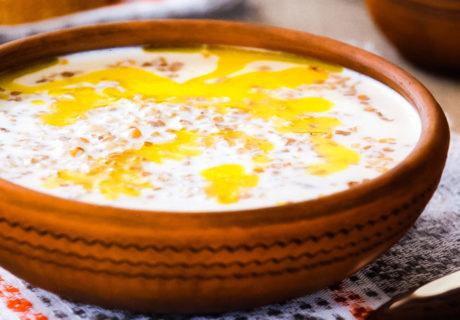сладкий молочный суп с гречкой