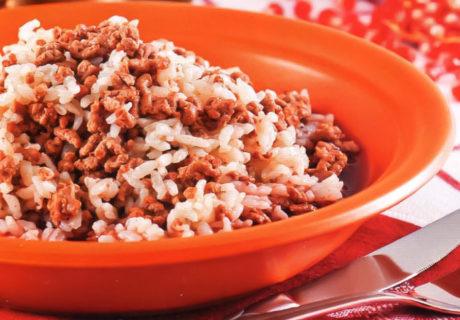 рис и баранина с гранатовым соком