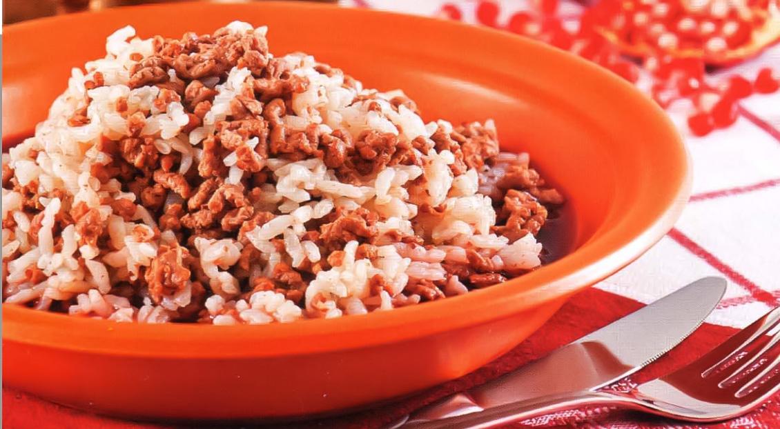 Рис с рубленой бараниной в гранатовом соке
