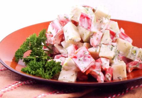 салат из яблок с перцем по грузинскому рецепту