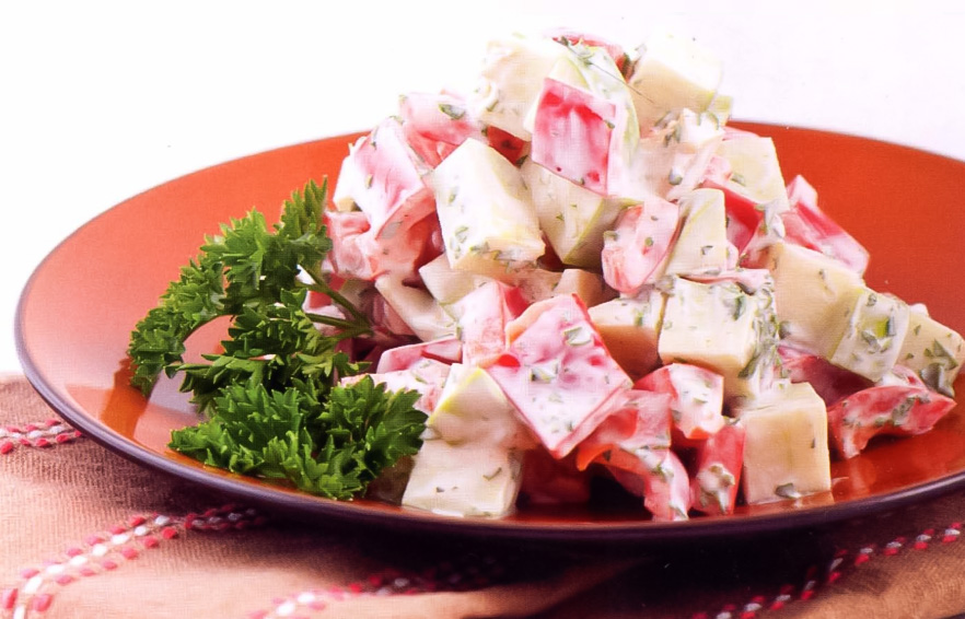 Легкий салат из перца с яблоками: рецепт