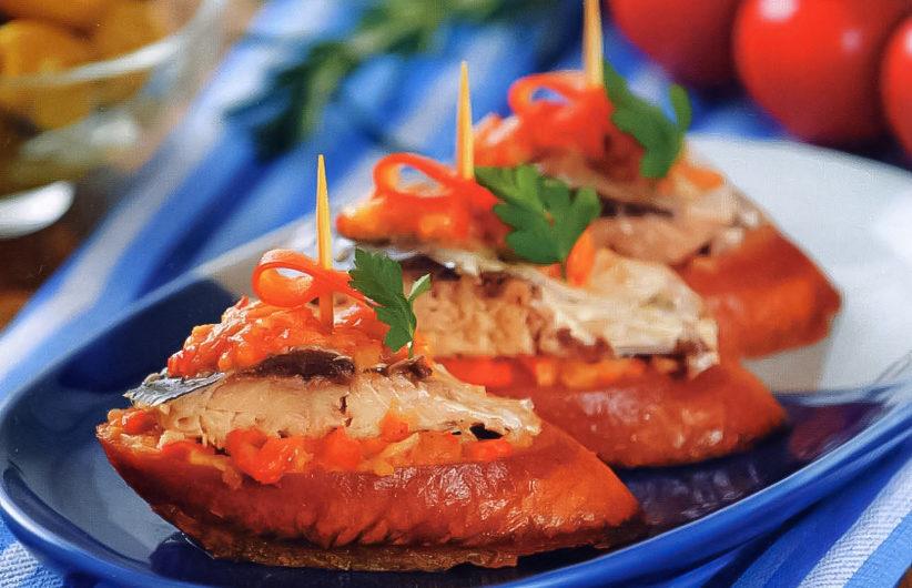 Испанские бутерброды «пинчос»: классический рецепт