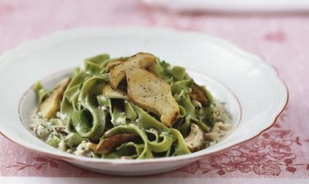 рецепт итальянской пасты тельятелле с белыми грибами