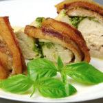 куриные грудки с моцареллой и песто в духовке