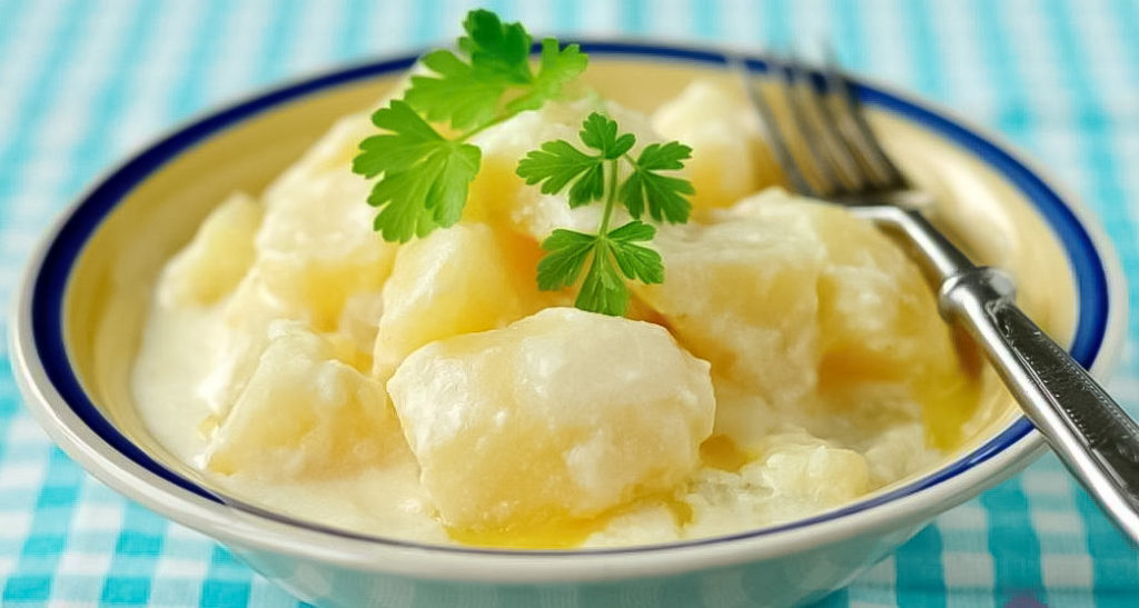 картофель тушеный в молоке рецепт