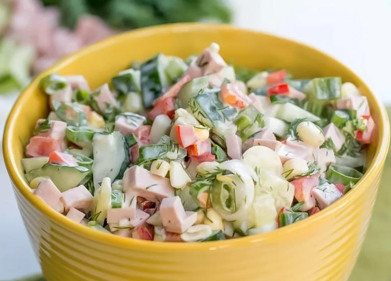 салат весенний из овощей без майонеза