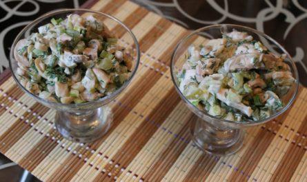 салат зимний без мяса с грибами рецепт