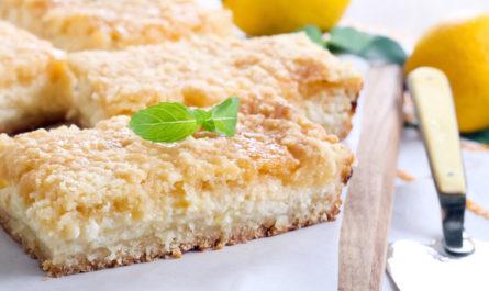 рецепт тертого лимонного пирога в домашних условиях