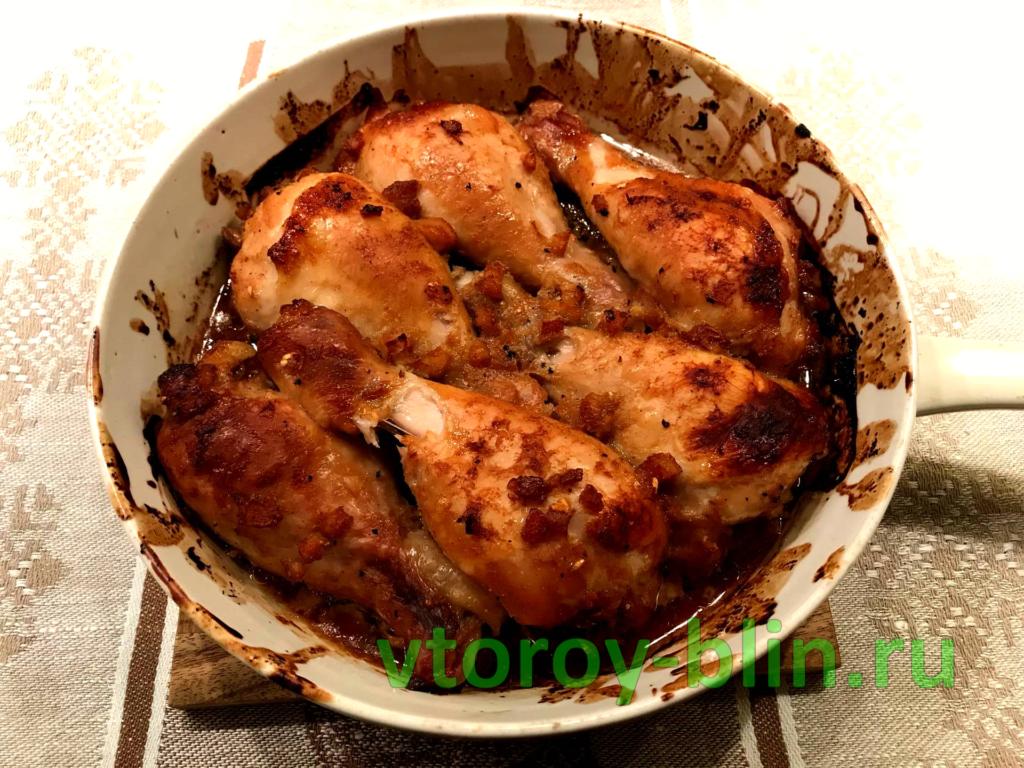 как запечь куриную голень: рецепт с апельсиновым джемом