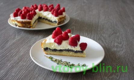 Маково-творожный торт рецепт