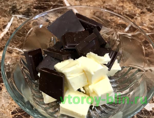 Шоколадный фондан в микроволновке