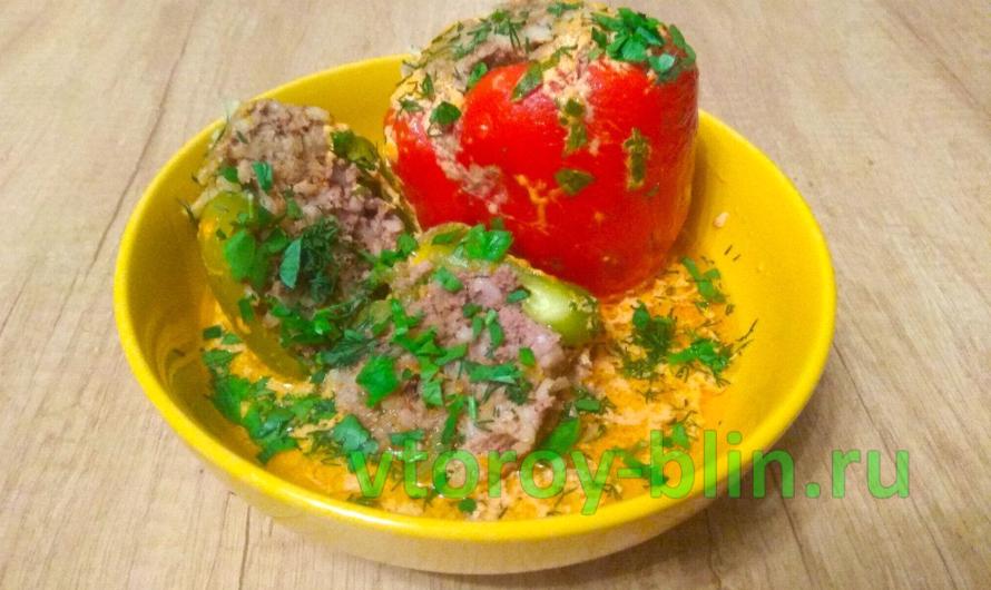 Фаршированные перцы в сливочном соусе