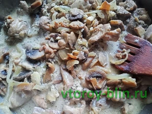 Сливочная паста с грибами и курицей: рецепт с фото