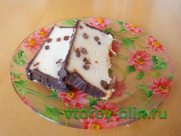 Пирог «Сырник» из творога: рецепт
