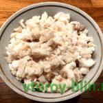 Салат с зубаткой горячего копчения и картофелем
