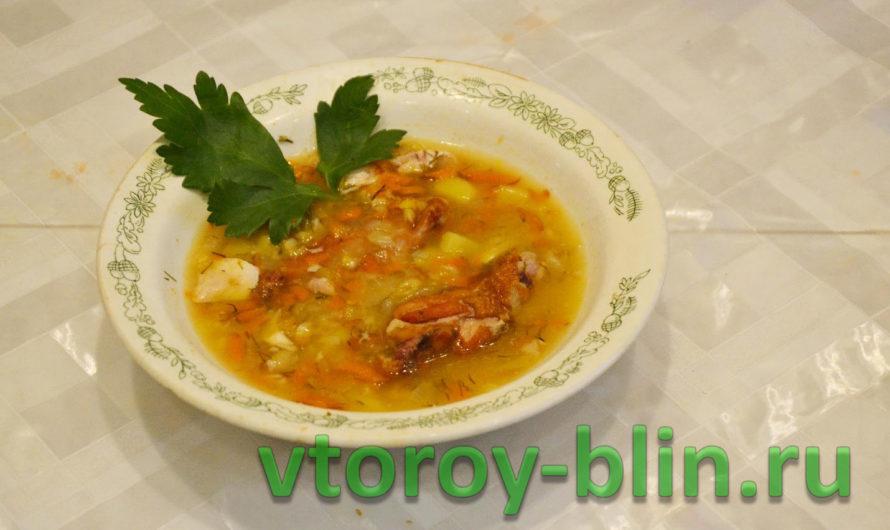 Суп гороховый с копченостями — рецепт с фото