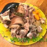 Как сварить студень из свиной рульки