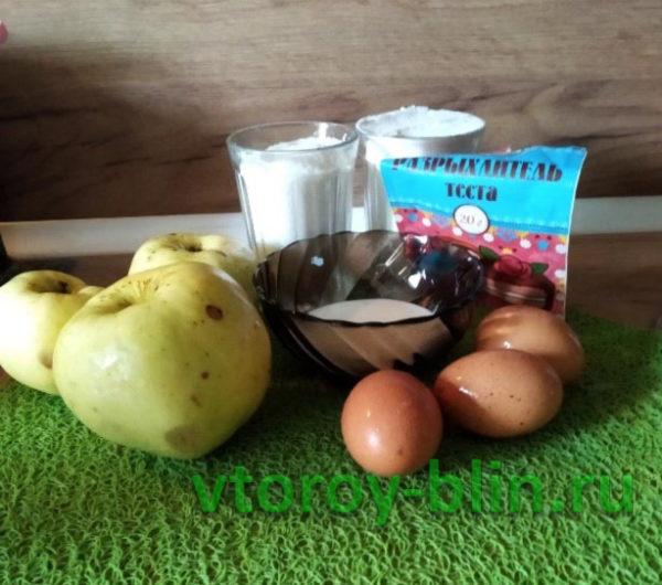 Шарлотка с яблоками «Антоновка»